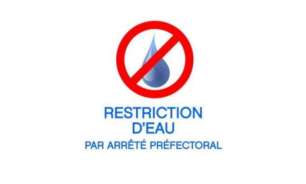 Sécheresse – restriction d'eau